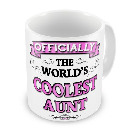 Officially The Worlds Coolest Novelty Gift Mug - Pink